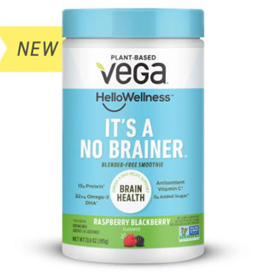 VEGA Hello Wellness, Brain Health Smoothie sabor Raspberry, 14 servs.