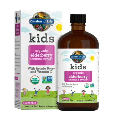 GARDEN OF LIFE, Kids Jarabe de Elderberry y Vitamina C Soporte Inmune, 116 ml.