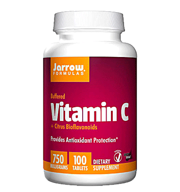 JARROW FORMULAS, Vitamin C Buffered, 750 mg, 100 Tabs