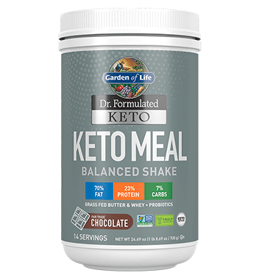 GARDEN OF LIFE, DR. FORMULATED KETO, Keto Meal balanced sabor Chocolate, 700 gr.