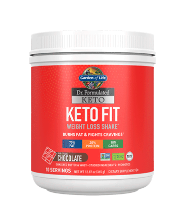 GARDEN OF LIFE, DR. FORMULATED KETO, Keto Fit sabor Chocolate, 365 gr.