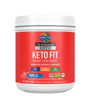 GARDEN OF LIFE, DR. FORMULATED KETO, Keto Fit sabor Vainilla, 355 gr.