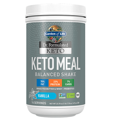 GARDEN OF LIFE, DR. FORMULATED KETO, Keto Meal balanced sabor Vainilla, 672 gr.