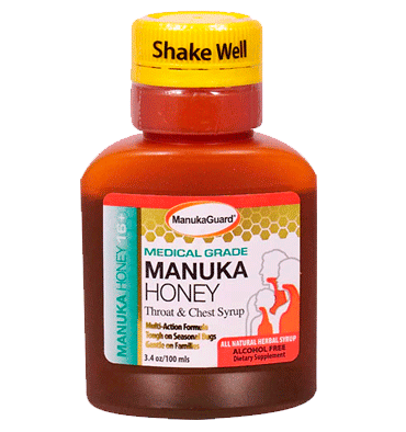 MANUKA GUARD, Manuka Honey Throat & Chest Syrup, 96.3 gr.