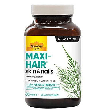 COUNTRY LIFE, Maxi-Hair Skin and Nails, 60 Softgels