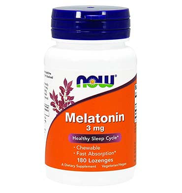 NOW FOODS, Melatonina 3 mg, 90 Lozenges