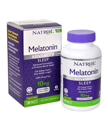 NATROL, Advanced Sleep Melatonin 10 mg, 100 Tabs