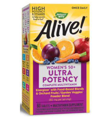 NATURE´S WAY, Alive! Once Daily Women's 50 + Ultra Potency, 60 Tabs