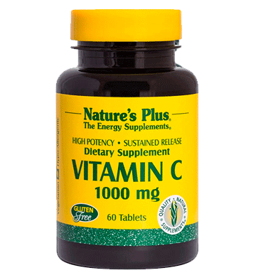 NATURES PLUS, Vitamina C Sustained Release 1000 mg, 60 Tabs