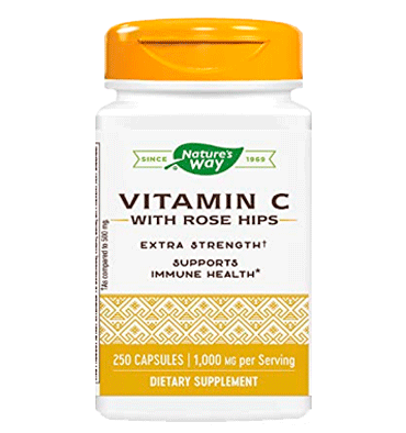 NATURE'S WAY, Vitamina C con Bioflavonoides, 1000 mg, 250 vcaps.