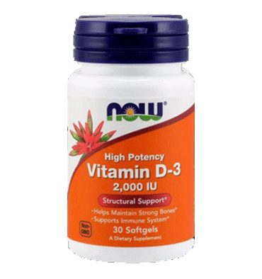 NOW FOODS, Vitamina D3 – 2000 IU - 30 Softgels