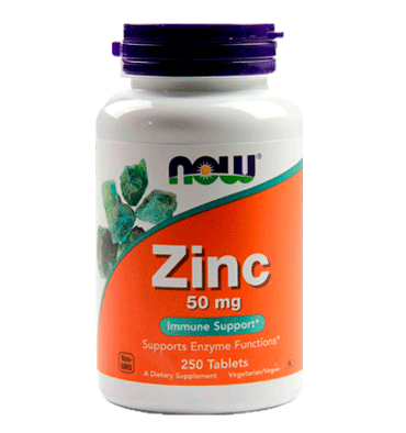 NOW FOODS, Zinc 50 mg, 250  tabs