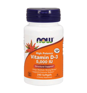 NOW FOODS, Vitamina D3 5000 IU, 240 Softgels