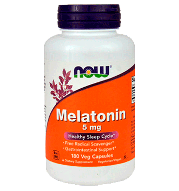 NOW FOODS, Melatonina 5 mg, 180 Vcaps
