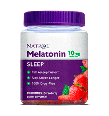 NATROL, Melatonina Gummies sabor fresa 10 mg, 90 Gummies