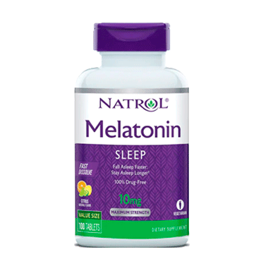 NATROL, Melatonina Fast Dissolve Citrus Punch 10 mg - 100 Tablets