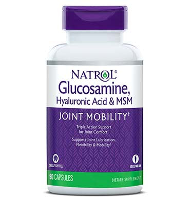 NATROL, Glucosamine, Hyaluronic Acid and MSM, 90 Caps