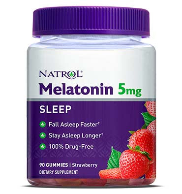 NATROL, Melatonina Gummies sabor fresa 5 mg, 90 Gummies