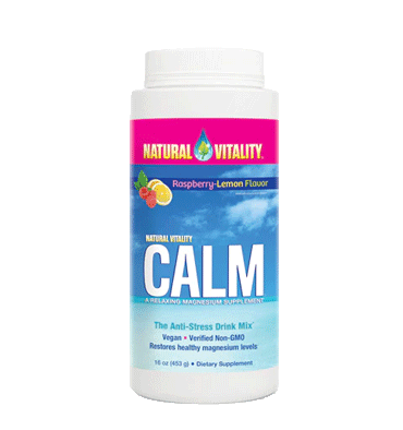 NATURAL VITALITY, Calm sabor Raspberry Lemon, 454 gr.