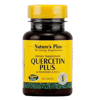 NATURES PLUS, Quercetina Plus, Bromelina y Vitamin C, 60 tabs.