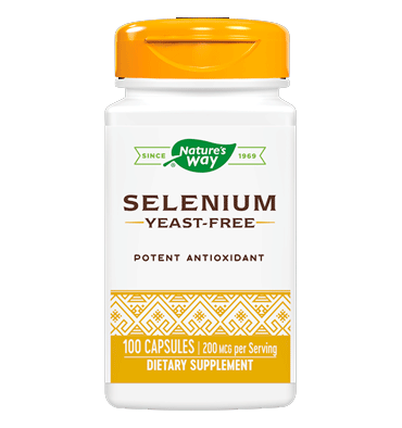 NATURE'S WAY, Selenio, 200 mcg, 100 caps.