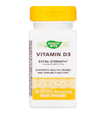 NATURE'S WAY, Vitamina D3 2000 IU 50 mcg, 240 Softgels