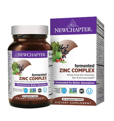 NEW CHAPTER, Fermented Zinc Complex, 60 Vtabs