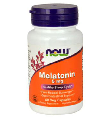 NOW FOODS, Melatonina 5 mg, 60 Vcaps
