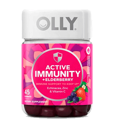 OLLY, Active Immunity + Elderberry Support Berry Brav, 45 Gummies