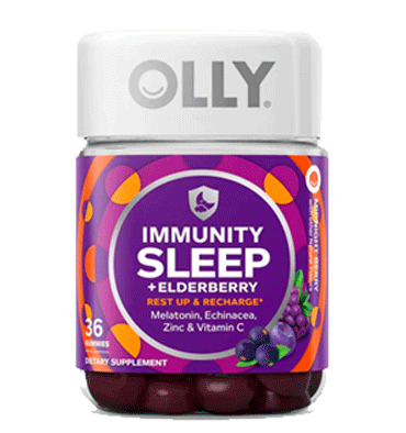 OLLY, Immunity Sleep + Elderberry Midnight Berry, 36 Gummies