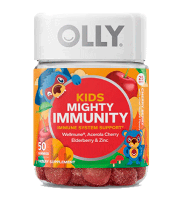 OLLY, Kids Mighty Immunity Cherry Berry, 50 Gummies