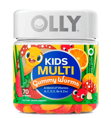 OLLY, Kids Multi Worms Sour Fruity Punch, 70 Gummies