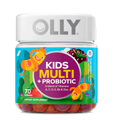 OLLY, Kids Multi plus Probiotic Yum Berry Punch, 70 Gummies