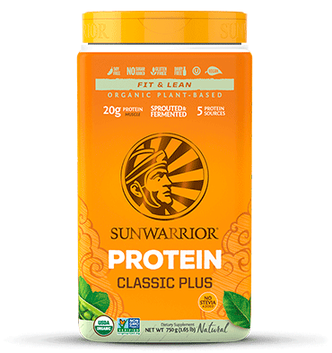 SUNWARRIOR, Proteína Vegetal PLUS, sabor Natural, 750 gr.