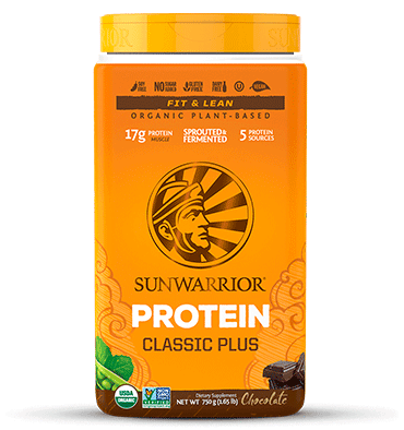 SUNWARRIOR, Proteína Vegetal PLUS, sabor Chocolate, 750 gr.