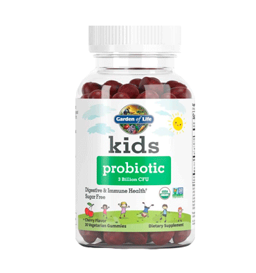 GARDEN OF LIFE, Kids Probióticos 3 Billion Cfu sabor Cereza, 30  Gummies