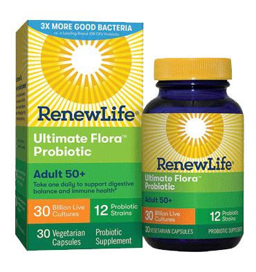 RENEW LIFE, Adult 50 plus Probiotic Ultimate Flora 30 billion, 30 Vcaps.