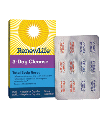 RENEW LIFE, Adult Cleanse Total-Body Reset 3 Day, 12 Vcaps