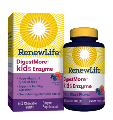 RENEW LIFE, Kids Digestive Enzyme sabor Berry Blast, 60 Chews