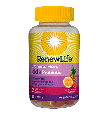 RENEW LIFE, Ultimate Flora Kids Probiotic sabor frutas, 3 billion, 60 Gummies