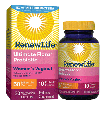 RENEW LIFE, Women's Probiotic Ultimate Flora 50 billion, 30 vcaps