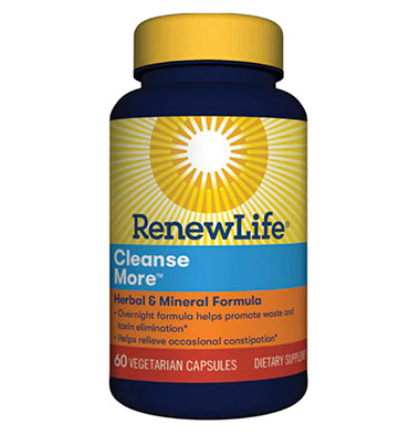 RENEW LIFE, Adult Cleanse More Overnight Constipation Relief, 60 Vcaps