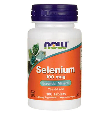 NOW FOODS, Selenio, 100 mcg, 100 vcaps.