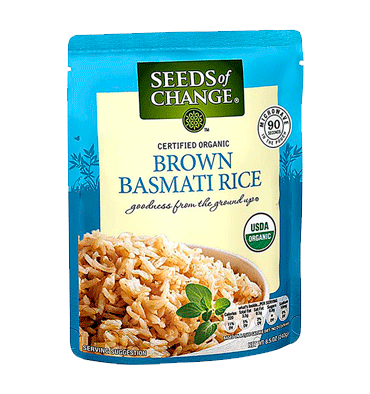 SEEDS OF CHANGE, Organic Brown Basmati Rice Pouch, 250 gr.