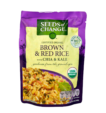 SEEDS OF CHANGE, Organic Brown & Red Rice with Chia & Kale, 250 gr.