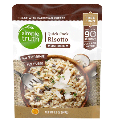 SIMPLE TRUTH, Quick Risotto Mushroom, 250 mg.