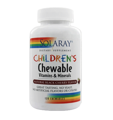 SOLARAY, Children's Chewable Vitamins and Minerals sabor Cereza, 60 Chews