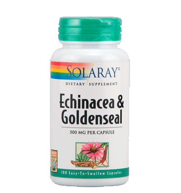 SOLARAY, Echinacea Goldenseal, 500 mg, 100 caps.