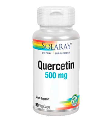 SOLARAY, Quercetina, 500 mg, 90 vcaps.