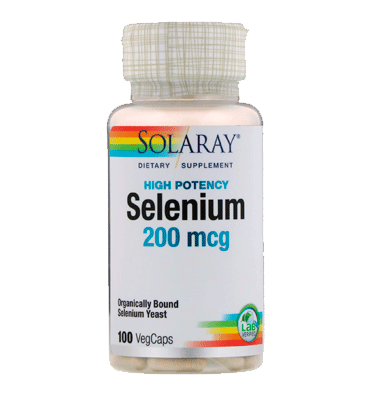 SOLARAY, Selenio, 200 mcg , 100 caps.